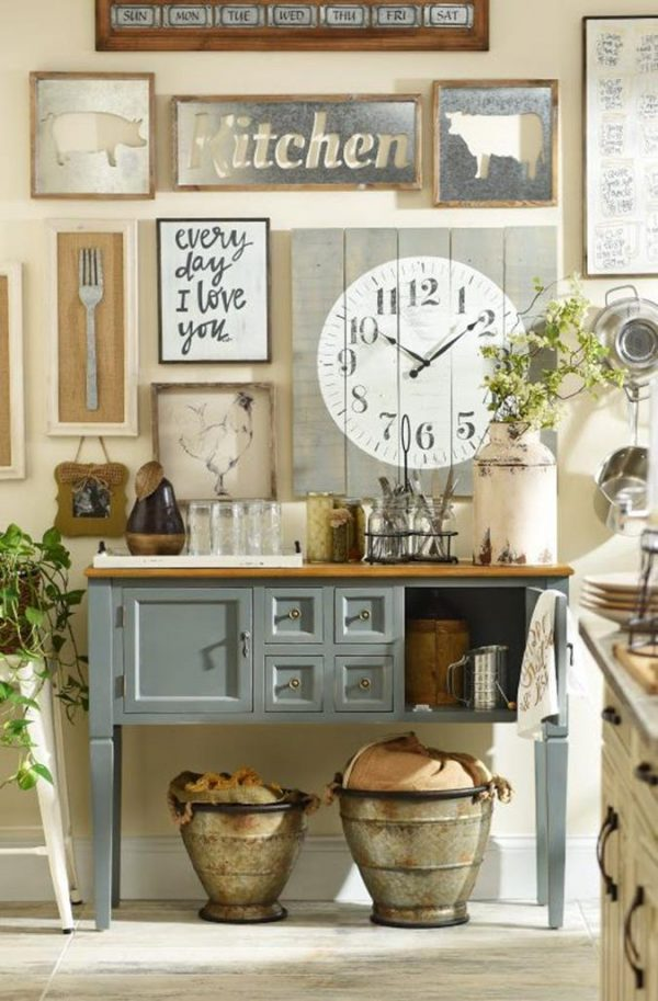 Perfect 38 Stunning Rustic Kitchen Wall Decorating Ideas Medium