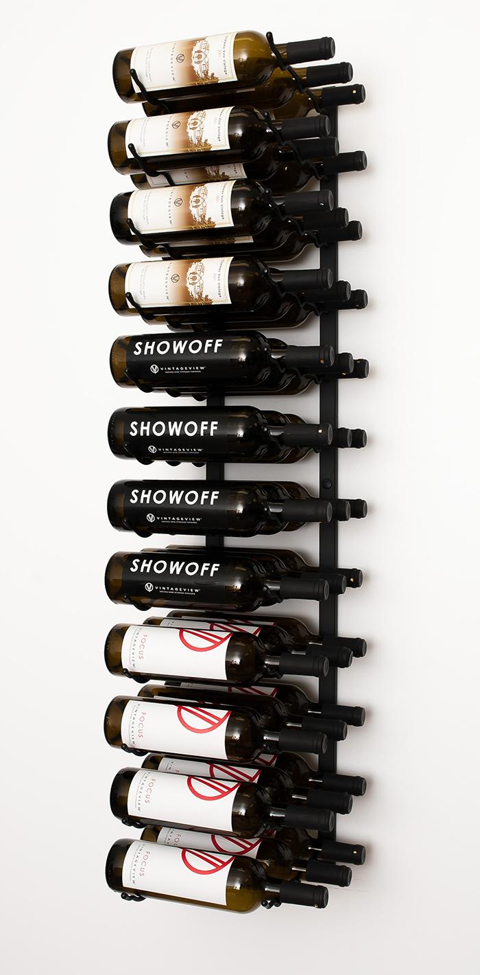 perfect 4 ft wall series metal wine rack 12 to 36 bottles