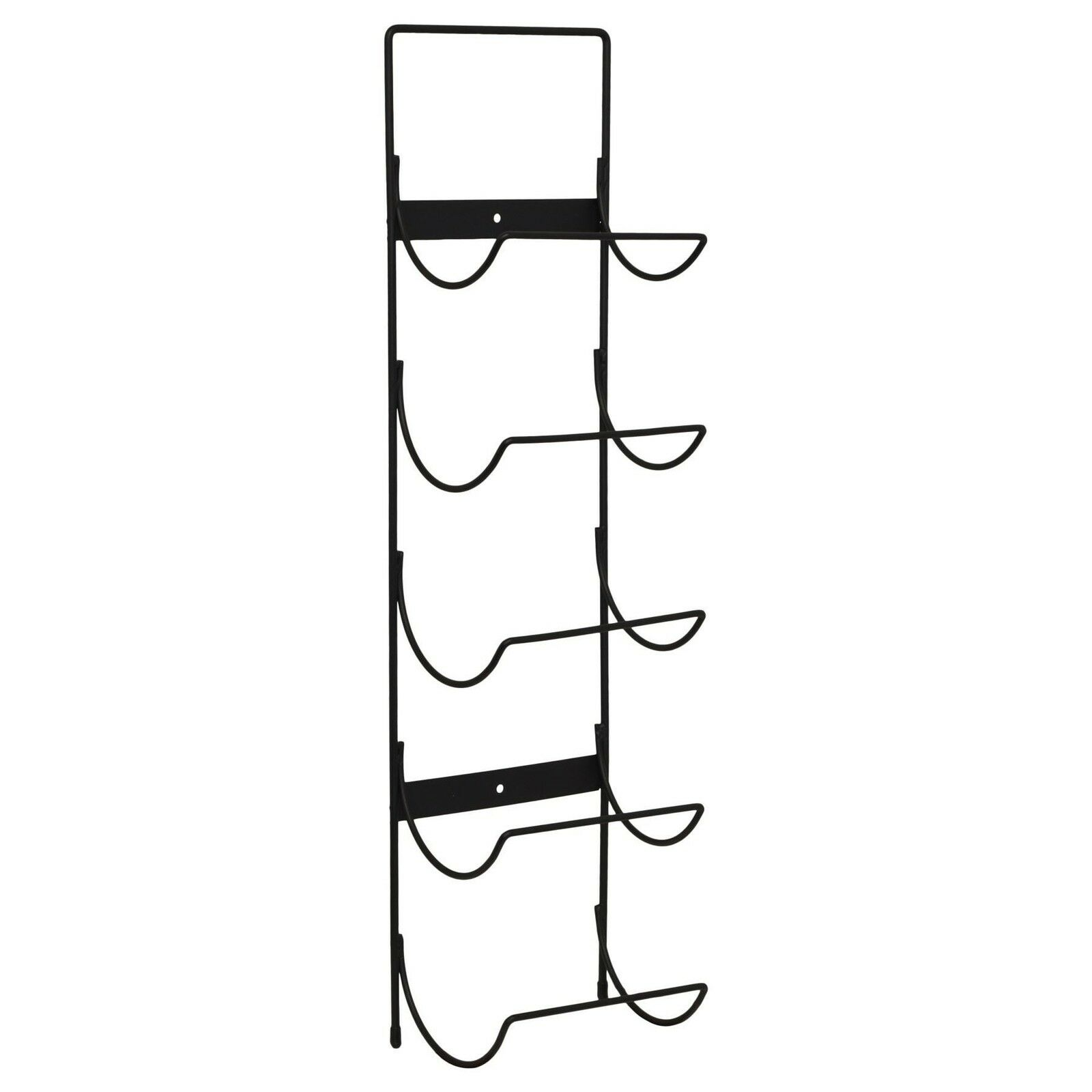 perfect 5 bottle wall mounted black metal wine rack storage holder