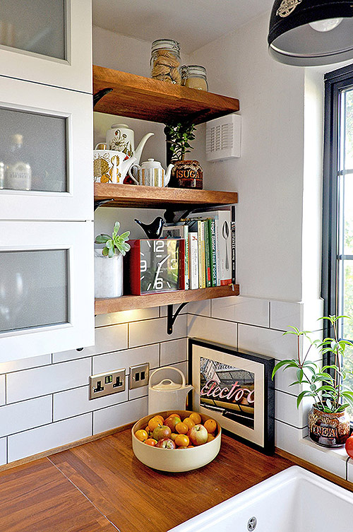Perfect 65 Ideas Of Using Open Kitchen Wall Shelves Shelterness Medium