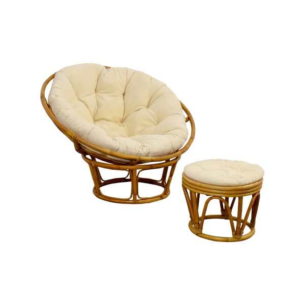 Perfect 68  Off Pier 1 Pier 1 Papasan Chair With Footstool   Chairs Medium