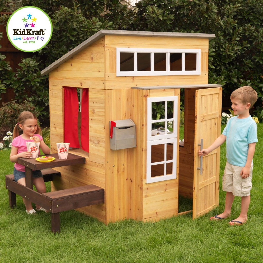 perfect adorable outdoor wood cottage playhouses for kids