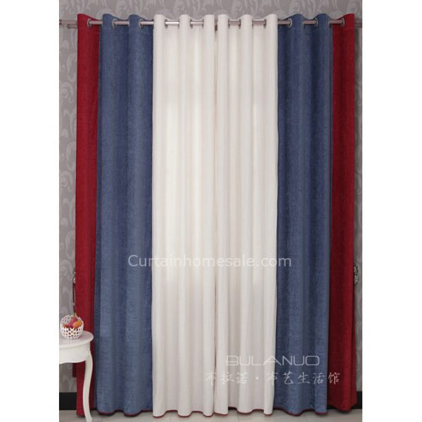 Perfect Boys Bedroom Curtains In Red Blue And White Combined Medium