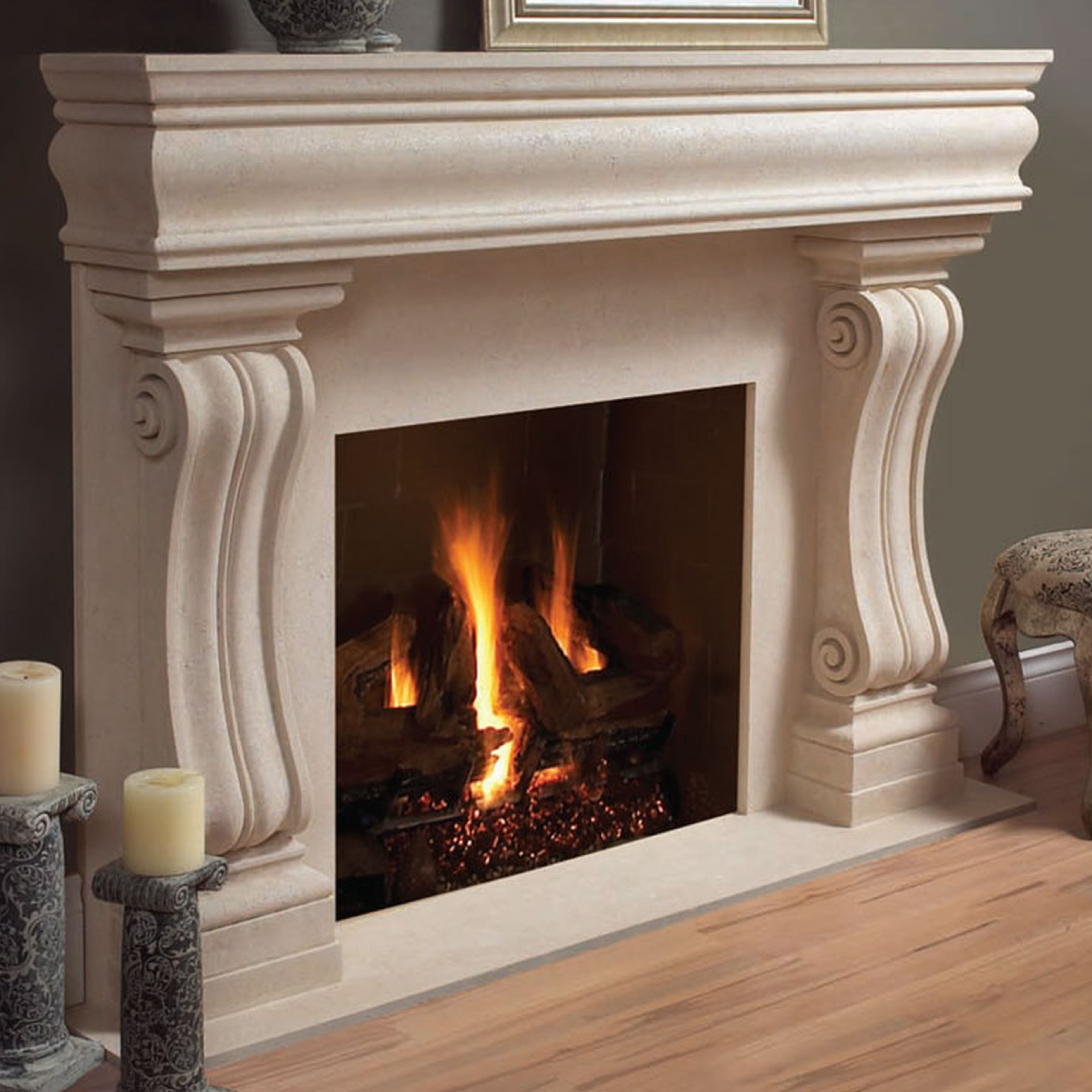 perfect cast stones wood mantel fireplace home decor   clipgoo