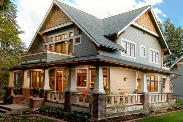 Perfect Craftsman Style House Exterior In Fresh Painting  House Medium