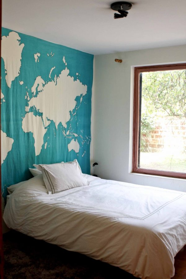 Perfect Creative Headboards With World Map Pattern Headboard With Medium