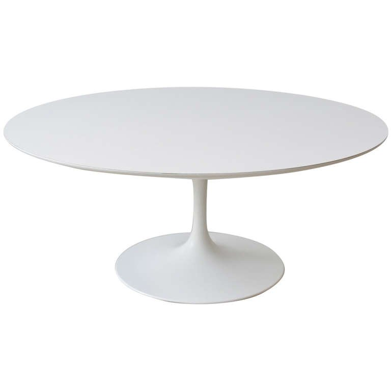 perfect early knoll tulip base coffee table by eero saarinen
