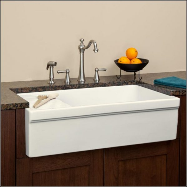 Perfect Farmhouse Sink With Drainboard Sinks And Faucetshome Medium