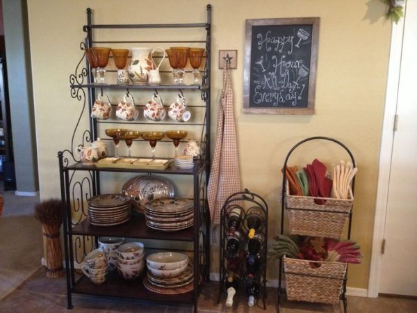 Perfect How To Creatively Decorate A Bakers Rack Bakers Racks Medium