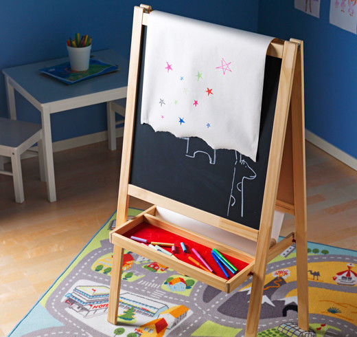 perfect ikea mala easel kids drawing whiteboard chalkboardebay medium