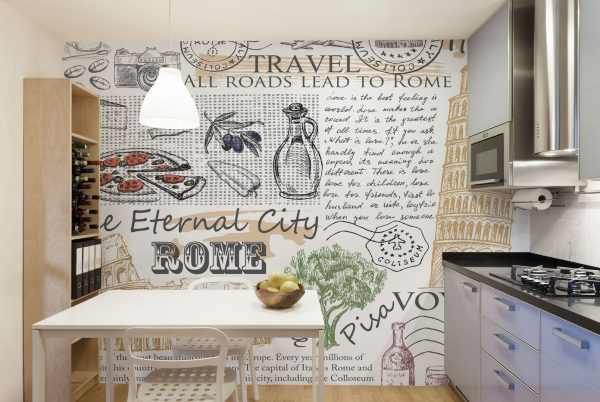 Perfect Kitchen Mural Wallpaper Wallpaper Bits Medium