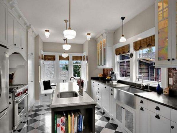 Perfect Kitchenblack And White Kitchen Floor Tiles Best Tile Medium
