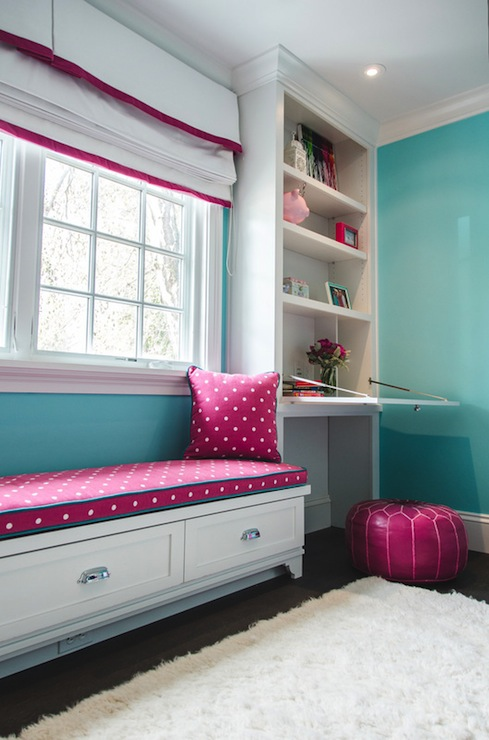Perfect Pink And Turquoise Girls Room Transitional Girls Medium
