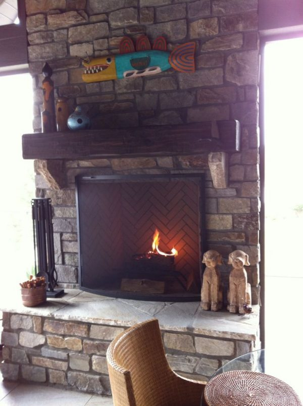 Perfect Prefabricated Wood Burning Fireplaces Patio And Indoor Medium