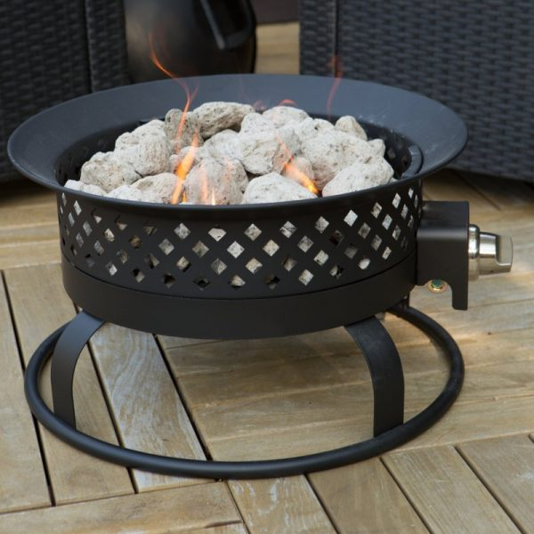 Perfect Propane Fire Pit Portable Home Outdoor Deck Patio Yard Medium