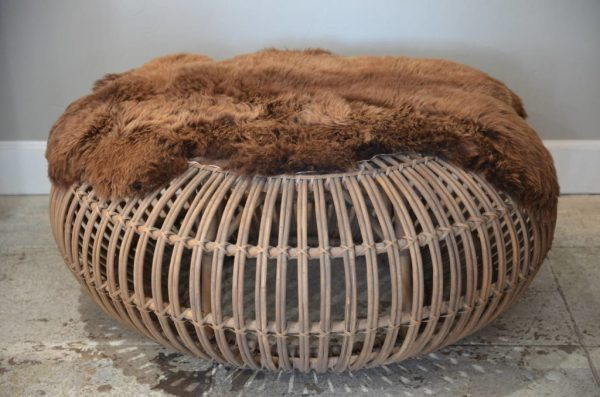 Perfect Round Wicker Ottoman For Your Living Room Home Furniture Medium