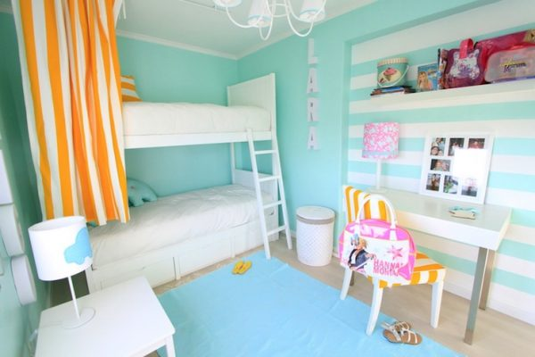 Perfect Turquoise Girls Room Contemporary Girls Room Ana Medium