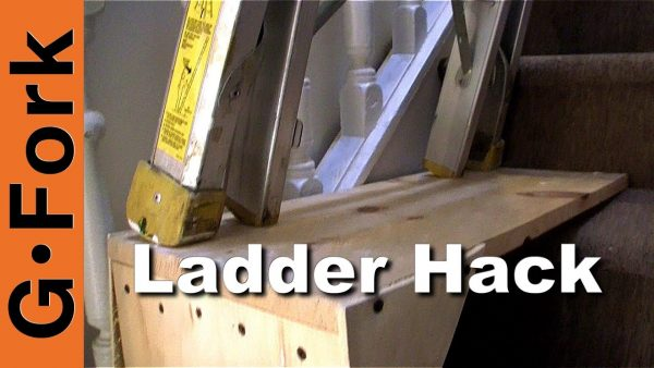 Perfect Use A Ladder On The Stairs Ladder Stairwell Hack Medium