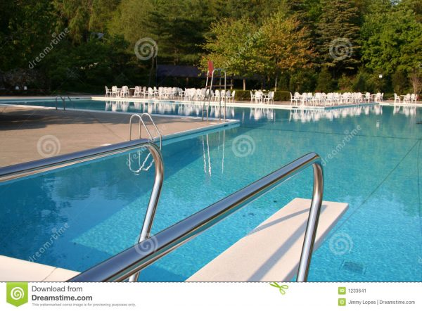 Pool With Diving Board Stock Image Image Of Slide Trees Medium