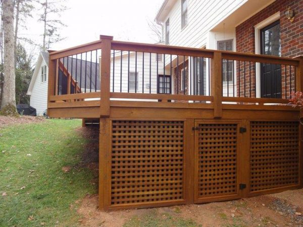 Popular Building Deck Lattice Design And Ideas Medium