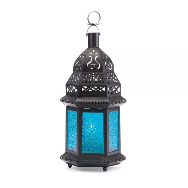 Popular Candle Holder Lamp Moroccan Lantern Glass Hanging Light Medium