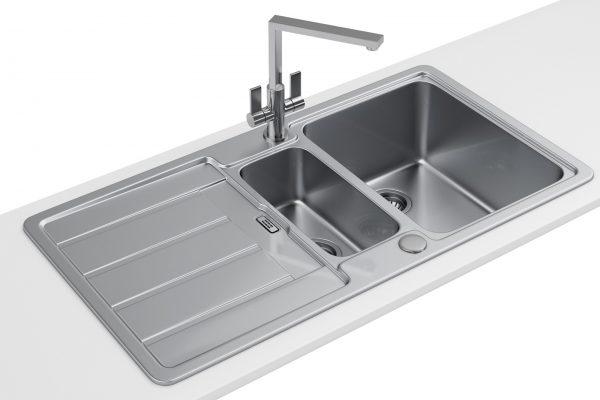 Popular Franke Hydros Hdx 654 Stainless Steel 15 Bowl Kitchen Medium