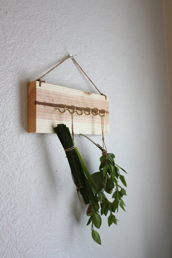 popular herb drying rack herb organizer pine wood dried herb medium