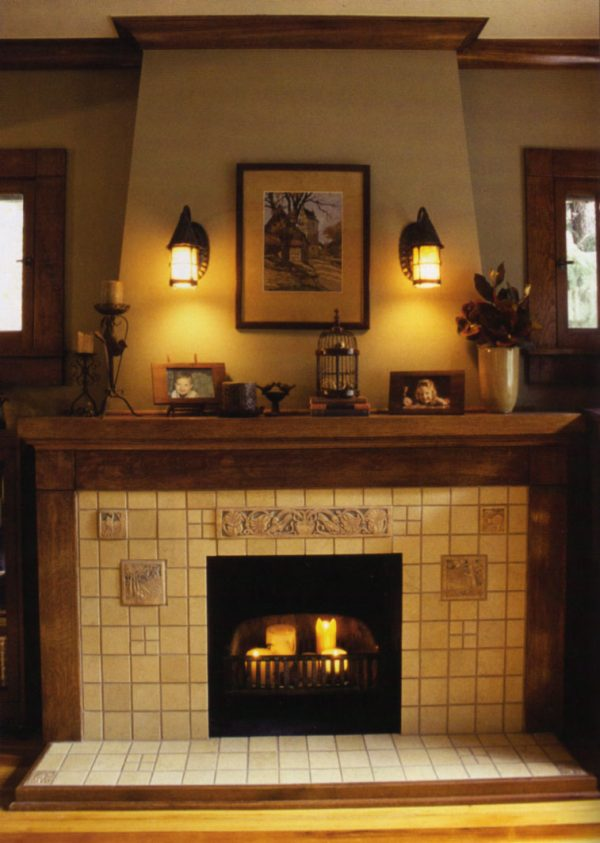 Popular In Search Of A Craftsman Arts   Crafts Fireplace Mantel Medium