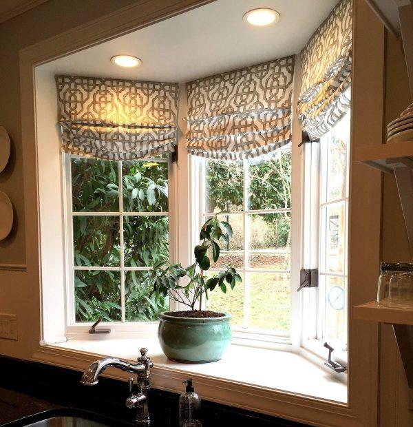 Popular Kitchen Bay Window Curtains Basics Expressdearmotoristcom Medium