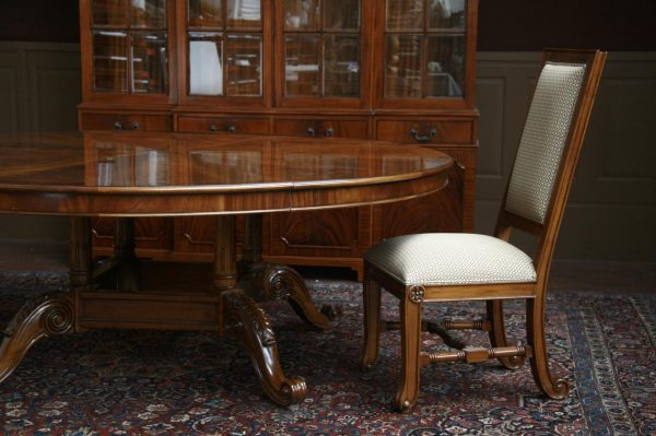 Popular Large Oversized Round Dining Table Large Round Mahogany Medium