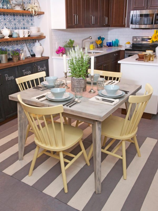 Popular Sophisticated Eat In Kitchen Table Design Feat Black Medium