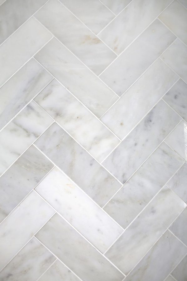 Popular Try This Herringbone Marble Tile  A Beautiful Mess Medium