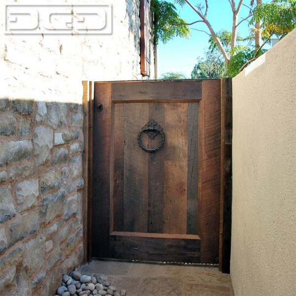Popular Tuscan Architectural Garden Gate In Reclaimed Barn Wood Medium