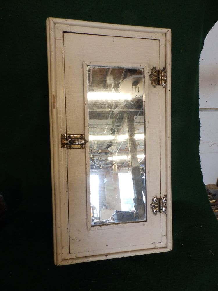 popular vintage narrow wood medicine cabinet cupboard old shabby