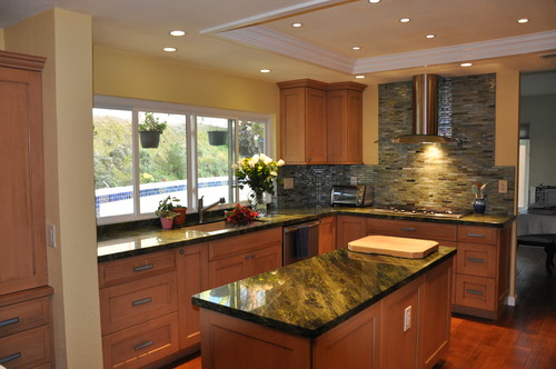 Recessed Lights In Kitchen With Granite Top Kitchen Island Medium