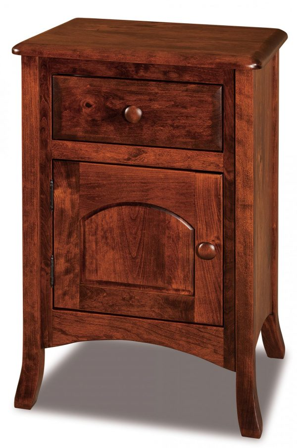 Search 1 Drawer 1 Door Nightstand Narrow Amish Furniture Store Medium