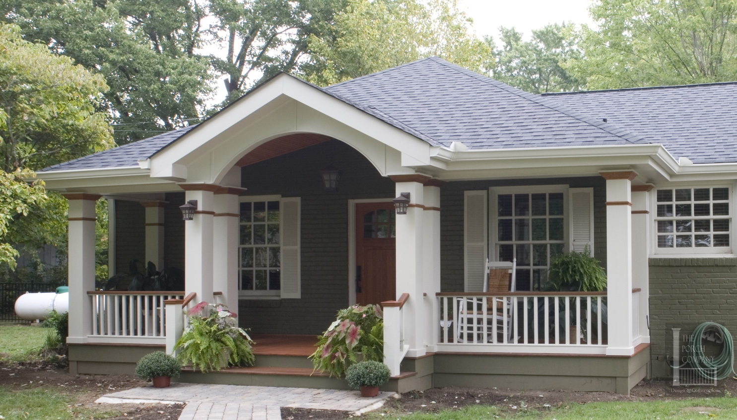 search adding a covered porch to a ranch house