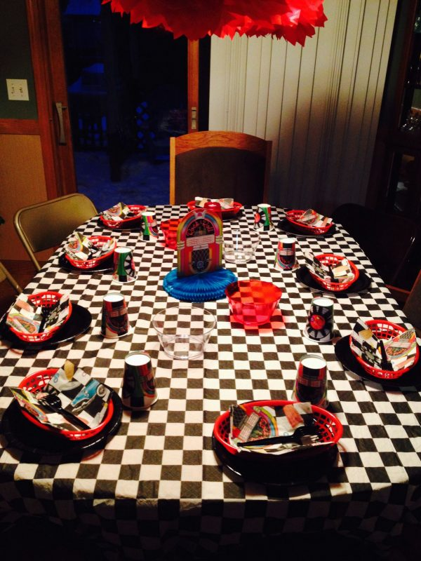 Search Grease Sock Hop Birthday Themed Party Table Decor Plates Medium