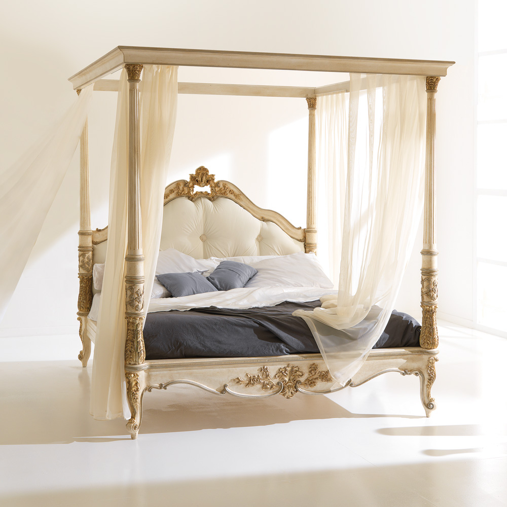 search high end italian designer four poster bed