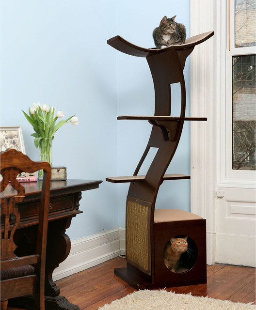 search refined feline little lotus tower cat tree contemporary