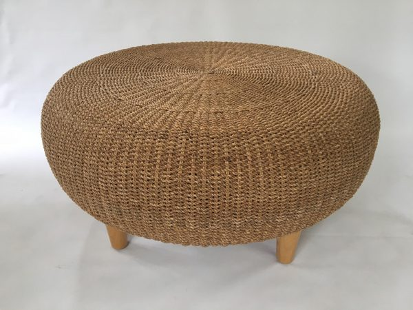 Search Round Woven Rattan   Wicker Ottoman   Coffee Tablechairish Medium