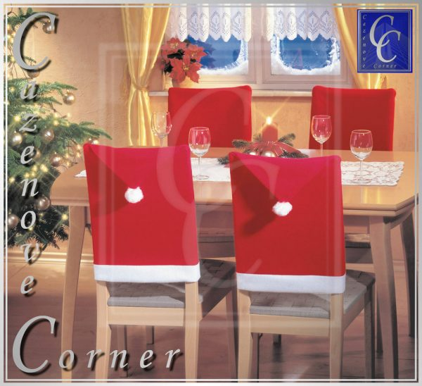 Search Santa Hat Chair Covers Xmas Party Table Decor Christmas Medium
