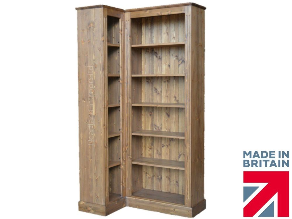 search solid pine corner unit large 6ft tall adjustable display