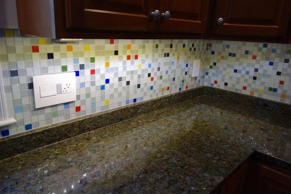 Search South Beach Glass Tile Kitchen Backsplash Medium