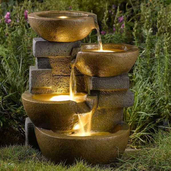 Search Water Fountain Pots Led Lights  Outdoor Yard Garden Water