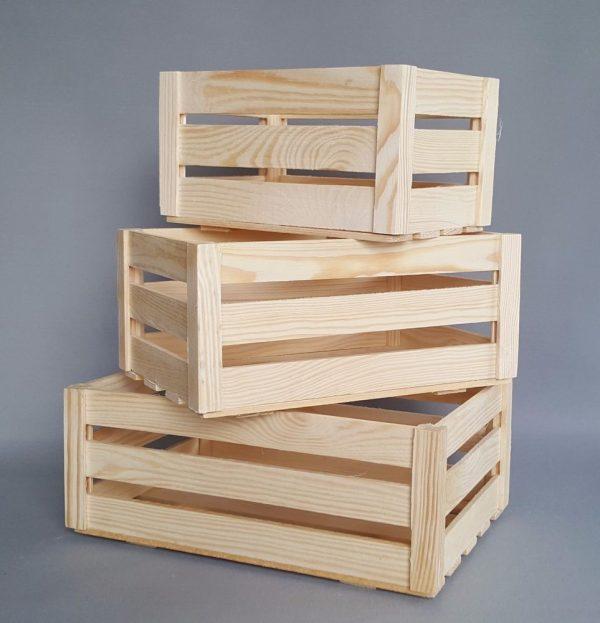 Search Wooden Crates Boxes Storage Craft Decoupage Plain Wood Box Medium
