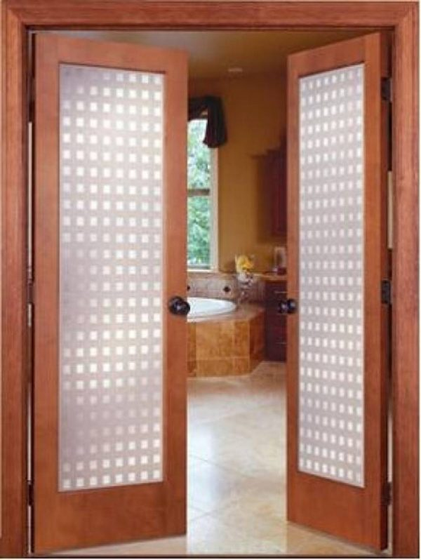 Simply 19 Prehung Interior French Doors With Frosted Glass As Medium