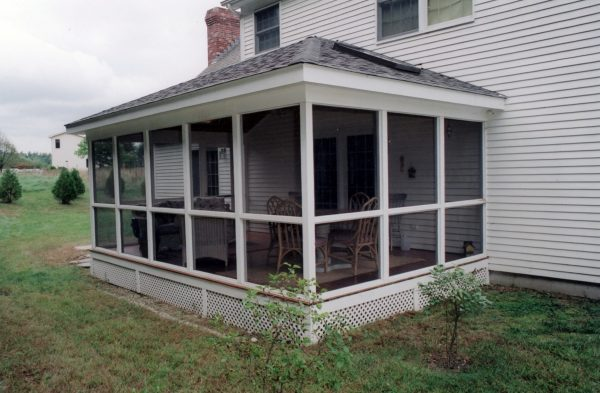Simply Adding A Screened Porch To A House Medium