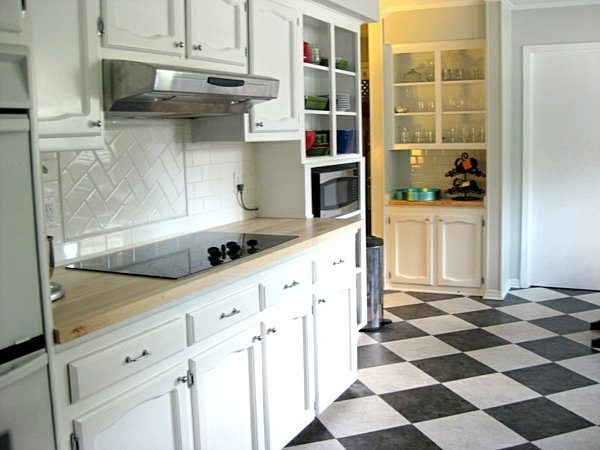 Simply Black And White Kitchen Tile 2017 Grasscloth Wallpaper Medium