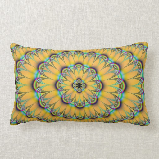 Simply Blue And Yellow Floral Pillows Blue And Yellow Floral Medium